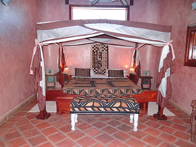 Kenyan African Traditional Double Bed Poster