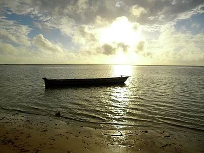 Kenyan Wooden Dhow At Sunrise Poster
