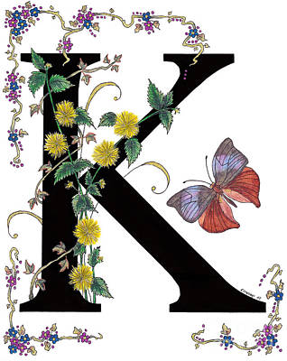 Kerria Japonica And Koh-i-noor Butterfly Poster by Stanza Widen