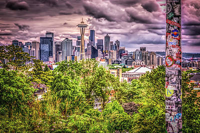 Kerry Park Grunge Poster by Spencer McDonald