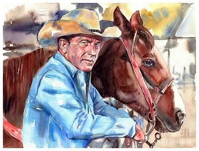 Kevin Costner Portrait Poster