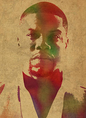 Kevin Hart Comedian Watercolor Portrait Poster by Design Turnpike