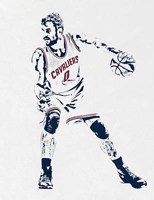 Kevin Love Cleveland Cavaliers Pixel Art Poster