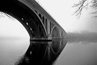 Key Bridge In Fog Poster