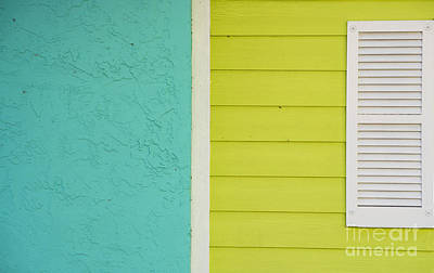 Key Lime Blue Abstract Poster