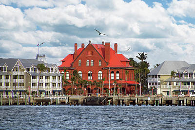 Poster featuring the photograph Key West Custom House by Bob Slitzan