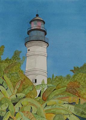 Key West Lighthouse Poster by John Edebohls