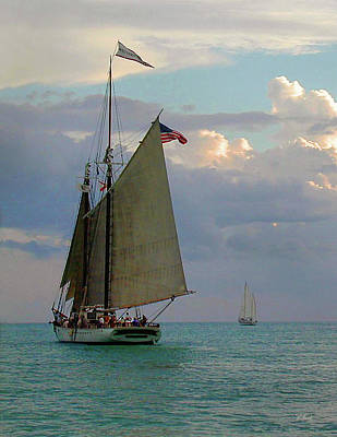 Poster featuring the photograph Key West Sail by Gordon Beck