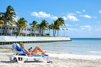 Key West Sunbather Poster