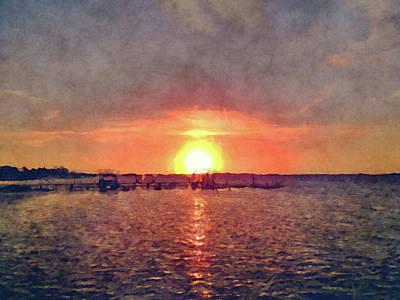 Keys Dock Sunset Poster