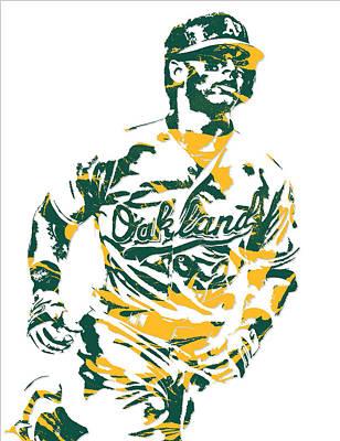 Khris Davis Oakland Athletics Pixel Art 2 Poster