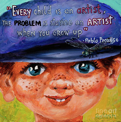 Poster featuring the painting Kid by Igor Postash
