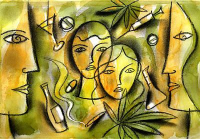 Kids And Drugs Poster by Leon Zernitsky