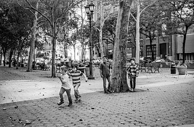 Kids Playing East Side Poster