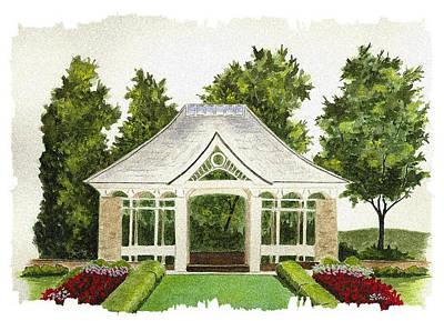 Kidston Pavilion - Mill Creek Park Poster by Michael Vigliotti