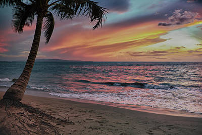 Poster featuring the photograph Kihei Sunset by Trever Miller