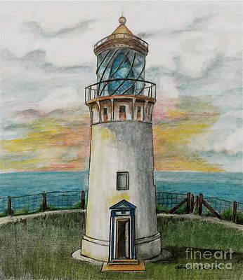 Kilauea Lighthouse Poster by Linda Simon