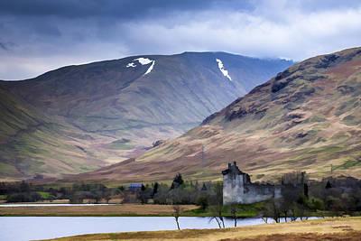Kilchurn Castle On Loch Awe In Scotland Poster