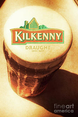 Kilkenny Draught Irish Beer Rusty Tin Sign Poster by Jorgo Photography - Wall Art Gallery