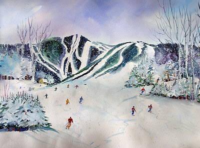 Killington  Mts.                    Poster by Maurie Harrington