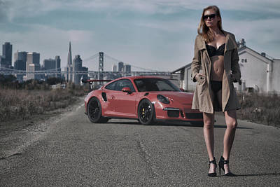#kim And #porsche #gt3rs #print Poster by ItzKirb Photography