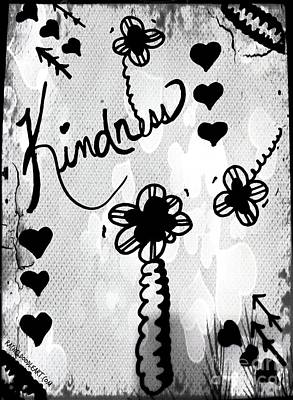 Poster featuring the drawing Kindness by Rachel Maynard
