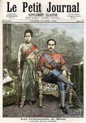 Poster featuring the drawing King Chulalongkorn by Granger