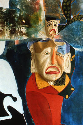 Poster featuring the painting King In Peace by Sima Amid Wewetzer