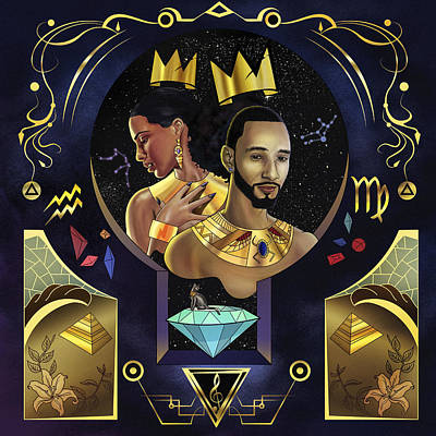 King Kasseem And Queen Alica Poster