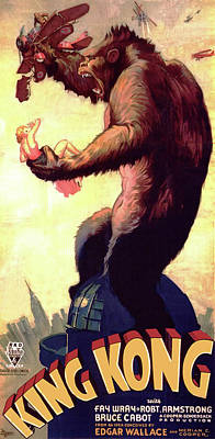 King Kong 1933 Poster by R K O