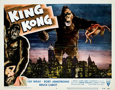King Kong, Fay Wray, 1933 Poster by Everett