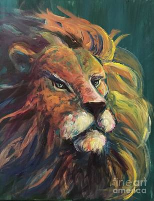 Poster featuring the painting Aslan by Lisa DuBois