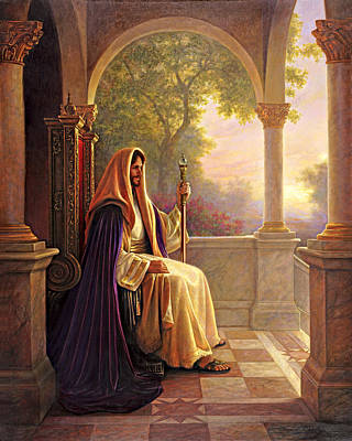 Poster featuring the painting King Of Kings by Greg Olsen