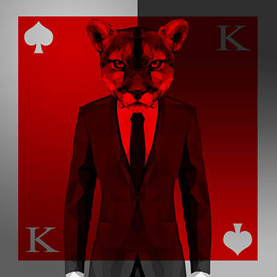King Of Spades 3 Poster by Gallini Design