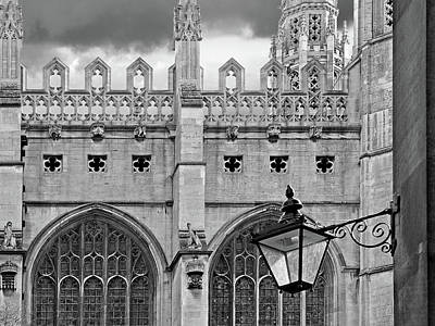 Poster featuring the photograph Kings College Chapel Cambridge Exterior Detail by Gill Billington