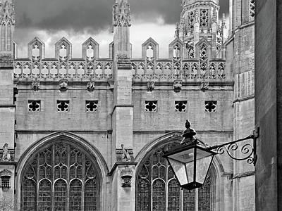 Kings College Chapel Cambridge Exterior Detail Poster