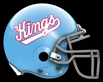 Kings What If Its Football Poster by Joe Hamilton