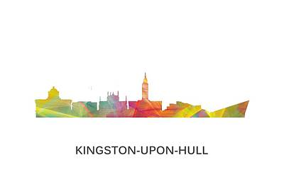 Kingston Upon Hull England Skyline Poster by Marlene Watson