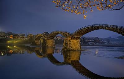 Kintai Bridge In Iwakuni Poster by Karen Walzer