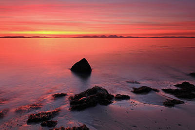 Poster featuring the photograph Kintyre Rocky Sunset 2 by Grant Glendinning