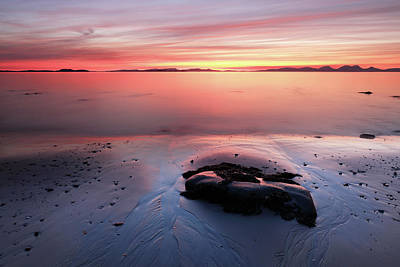 Poster featuring the photograph Kintyre Rocky Sunset 5 by Grant Glendinning