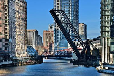 Kinzie Street Bridge Alternate View Poster