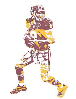 Kirk Cousins Washington Redskins Pixel Art 1 Poster
