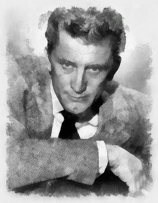 Kirk Douglas Actor Poster by Esoterica Art Agency
