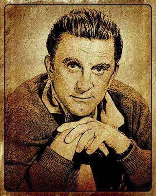 Kirk Douglas Hollywood Actor Poster by Esoterica Art Agency