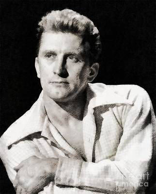 Kirk Douglas, Hollywood Legend By John Springfield Poster