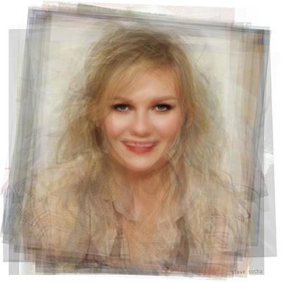 Kirsten Dunst Portrait Poster by Steve Socha
