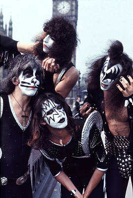 Kiss 1976 In London Poster by Chris Walter
