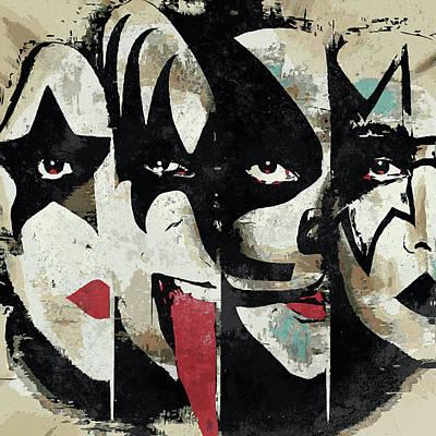 Kiss Art Print Poster