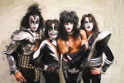 Kiss Band Poster by Steven Parker